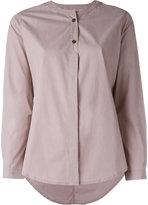 Humanoid collarless shirt - women - Cotton - S