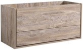 """Fresca Catania 48"""" Natural Wood Wall Hung Double Sink Cabinet"""