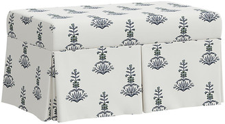 One Kings Lane Hayworth Storage Bench - Lila Block Print