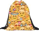 Susenstone Unisex Emoji Backpacks 3D Printing Bags Drawstring Backpack