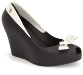 MELISSA FOOTWEAR Queen Peep Toe Wedge Pump