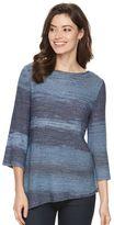 Dana Buchman Women's Ombre Tape-Yarn Boatneck Sweater