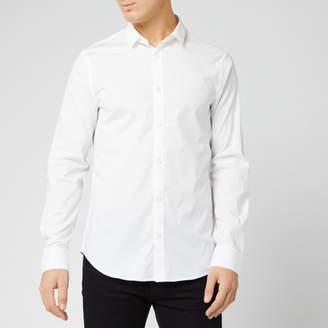 Armani Exchange Men's Small Logo Long Sleeve Shirt