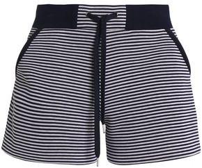 RED Valentino Striped Cotton-scuba Shorts