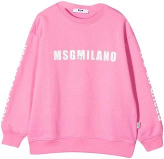 MSGM Pink Teen Sweatshirt