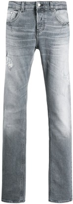Les Hommes Urban Low Rise Stonewashed Jeans