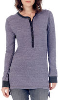 Alternative Cotton-Blend Heathered Long Sleeve Tunic Tee