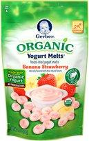 Gerber Organic Yogurt Melts Fruit Snacks, Banana and Strawberry