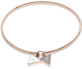Emporio Armani Signature Rose Goldtone Bangle w/Double Charm