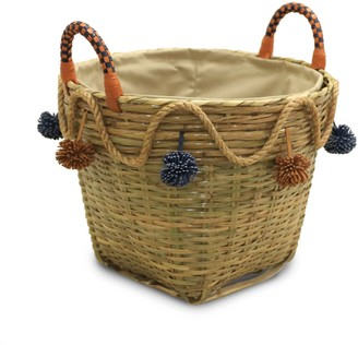 Neyuh Leather The Modern Fusion Straw Basket