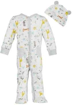 First Impressions Baby Boys Safari-Print Cotton Coverall Set, Created for Macy's