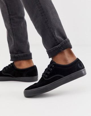 Fred Perry Merton suede sneakers in black