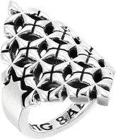 King Baby Studio Women's MB Cross Shield Ring Ring