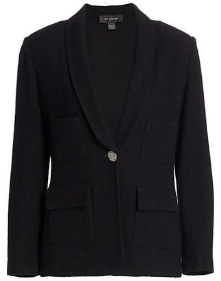 St. John Micro Float Knit Shawl Collar Jacket