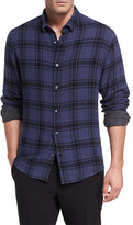 Vince Double-Faced Plaid Shirt