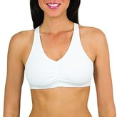 Fruit of the Loom Women's Shirred Front Sports Bra (Pack of 6)