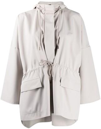 Max Mara Drawstring Hooded Jacket