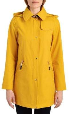 Vince Camuto Hooded Snap Jacket