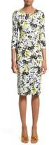 Erdem Women's Floral Jersey Sheath Dress