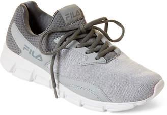 Fila Grey & White Fastreactor Knit Running Sneakers