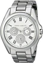 Vince Camuto Women's VC/5187SVSV Swarovski Crystal Accented -Tone Multi-Function Bracelet Watch
