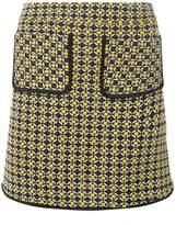 Dorothy Perkins Yellow Geometric Print Mini Skirt