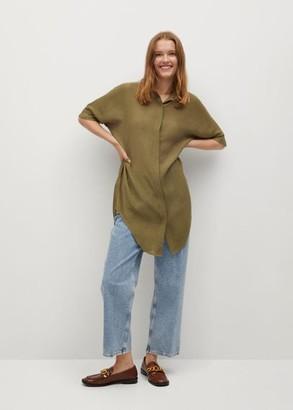 MANGO Oversize flowy shirt