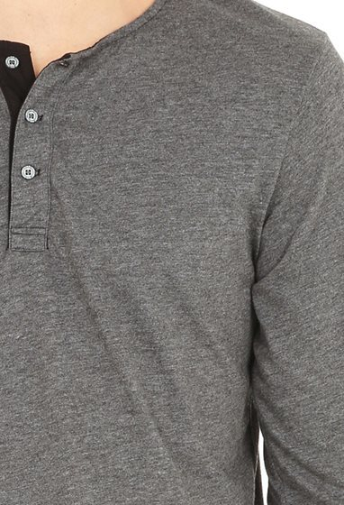 AG Jeans The Commute L/S Henley - Charcoal