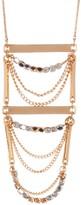 Stephan & Co Bar Bead Chain Pendant Necklace