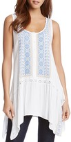 Karen Kane Embroidered Handkerchief Top