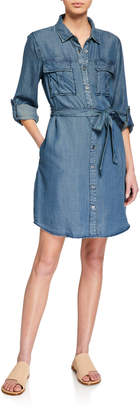 Velvet Heart Ada Tie Waist Chambray Dress