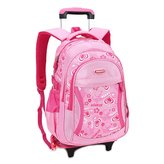 JOYORUN Girls School Bag with Wheels Rolling Backpack for Kid
