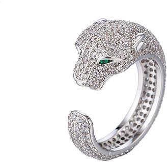 Eye Candy Los Angeles Eye Candy La Cz Jaguar Silver Ring