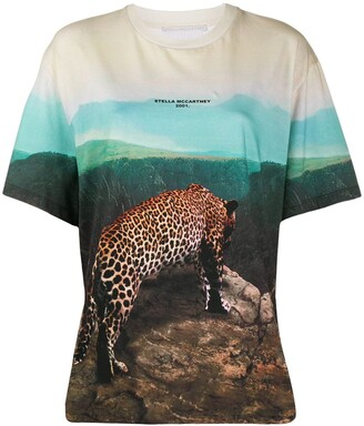 Stella McCartney all-over photographic print T-shirt