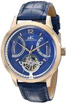 Adee Kaye Men's AK2241-MRG/BU Prospere Analog Display Automatic Self Wind Blue Watch
