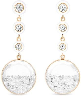 Moritz Glik 18kt Rose Gold Diamond Shaker Drop Earrings