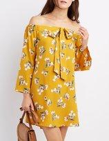 Charlotte Russe Floral Off-The-Shoulder Shift Dress