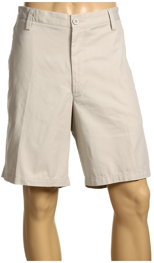 Dockers Big Tall Washed Khaki Short (Grey Stone) - Apparel