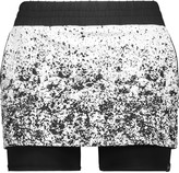 Koral Gemini layered stretch-jersey jacquard shorts