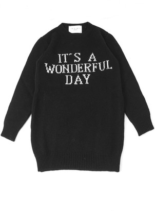 Alberta Ferretti Black Wool And Cashmere Sweater