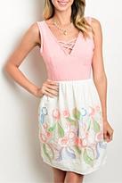 twill tradE Pink Ivory Dress