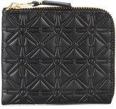 Comme des Garcons embossed half zip wallet - men - Leather - One Size