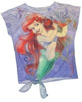 Disney The Little Mermaid Ariel Tie Side Girls Shirt