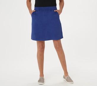 Denim & Co. Active Knit Terry Skort