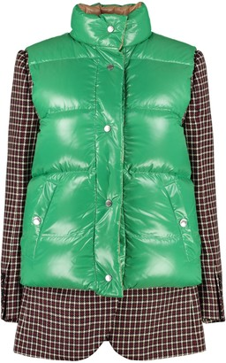 Burberry Wool Jacket With Padded Vest