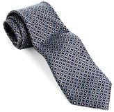 Black Brown 1826 Classic Fit Dot Printed Silk Tie