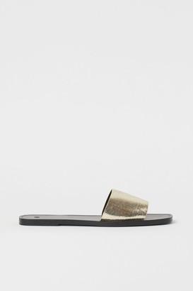 H&M Slides - Gold