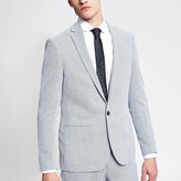 Mens Light Blue skinny suit jacket