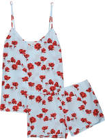 Equipment Alexy Floral-print Washed-silk Pajama Set - Sky blue