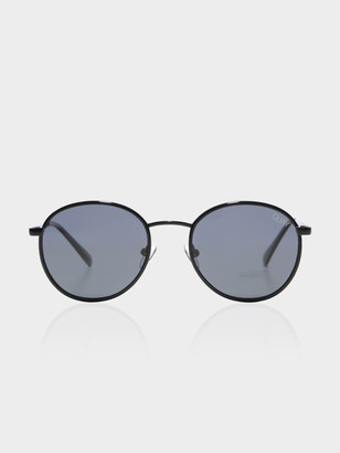 Quay Unisex Omen Sunglasses in Black with Smoke Lenses